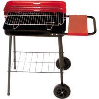 ALPERK - Barbecue sur roulettes avec tablette latérale