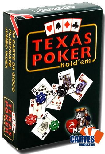 Poker Production - Jeu de 52 cartes : Texas Poker Rouge