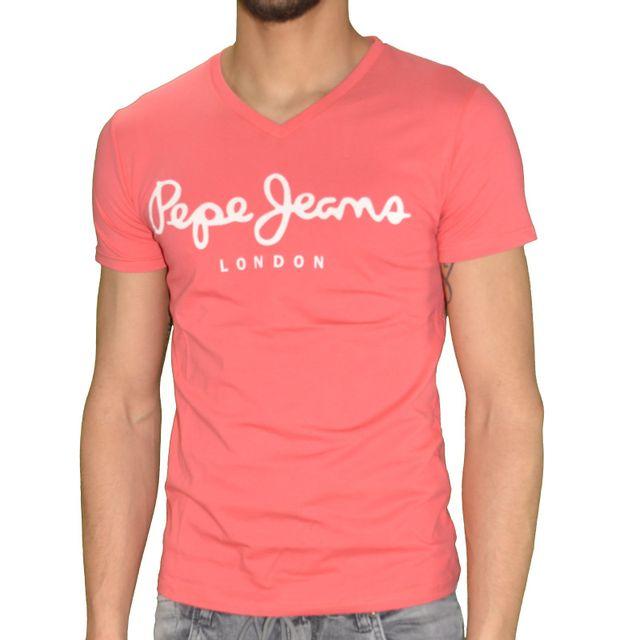 pepe jeans t shirt manches courtes homme original. Black Bedroom Furniture Sets. Home Design Ideas