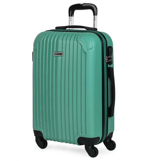 2714f74eea Itaca - Valise de voyage de la taille dune cabine, de marque T71550 Couleur  vert - pas cher Achat / Vente Valises, trolleys - RueDuCommerce