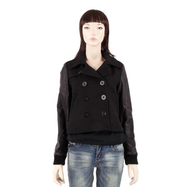 Ddp - Veste courte en laine noire femme 42 - pas cher Achat   Vente Veste  femme - RueDuCommerce 4449027b62dd