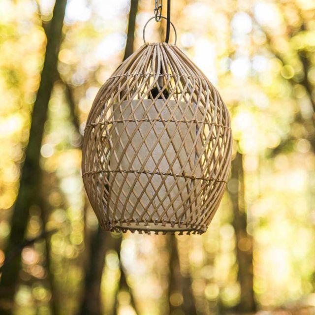 Wanda Collection Lampe suspension en osier 27 cm