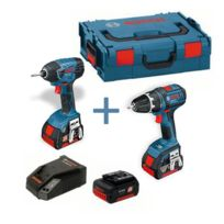 Bosch - Pack 2 outils - Perceuse a percussion Gsr 18 V-li + Visseuse a chocs Gdr 18-LI - Professionnel