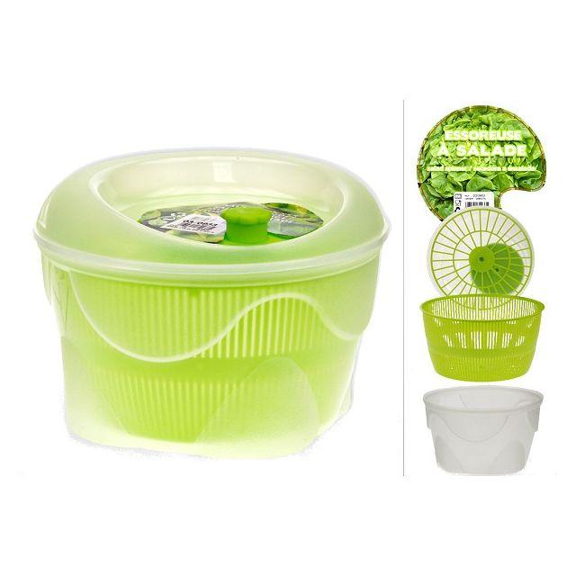 Revimport Essoreuse à Salade 23 cm blanche panier vert