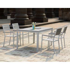 CONCEPT USINE - Siderno 4 : Salon de jardin en aluminium et ...