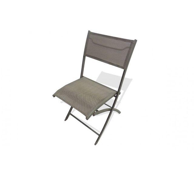 Dcb Garden Chaise pliante cappuccino