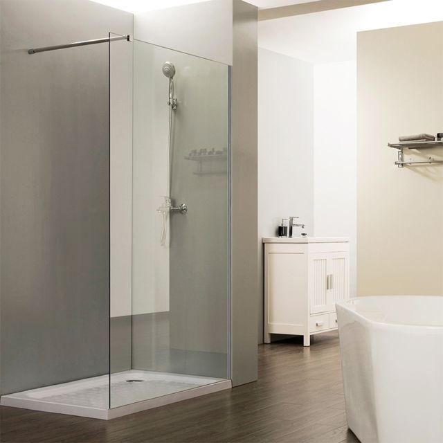 creazur paroi de douche fixe 8 mm calypso 80 cm pas cher achat vente cabine de douche. Black Bedroom Furniture Sets. Home Design Ideas