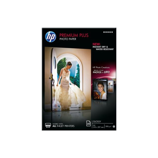 HP Papier photo A4 brillant Premium Plus - 20 feuilles Papier photo A4 brillant HP Premium Plus - 20 feuilles