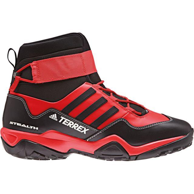 7b91dd9b2d6 Adidas - Terrex Hydro Lace - Chaussures Femme - rouge noir - pas cher Achat    Vente Chaussures grande rando - RueDuCommerce