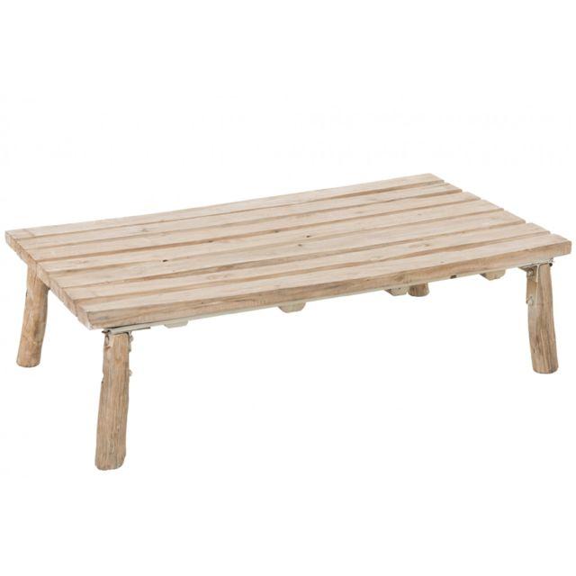 HELLIN TABLE BASSE CHENE MASSIF NATUREL - AUPURE