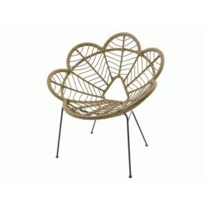decoris fauteuil en r sine tress e et acier forme fleur beige pas cher achat vente chaises. Black Bedroom Furniture Sets. Home Design Ideas