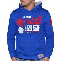 Us Marshall - Sweat à Capuche - Homme - Hs401 - Bleu Royal Rouge