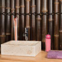 Wanda Collection - Vasque salle de bain à poser Milan rectangle 30cm x 40cm crème