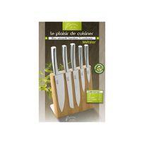 Pradel Jean Dubost - Pradel Bloc bambou 5 couteaux mixte