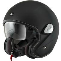 casque jet moto scooter en Fibre Heritage Kma noir mat S