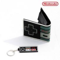 Kas Design - Set Manette Nes Nintendo Portefeuille et Porte-Clés