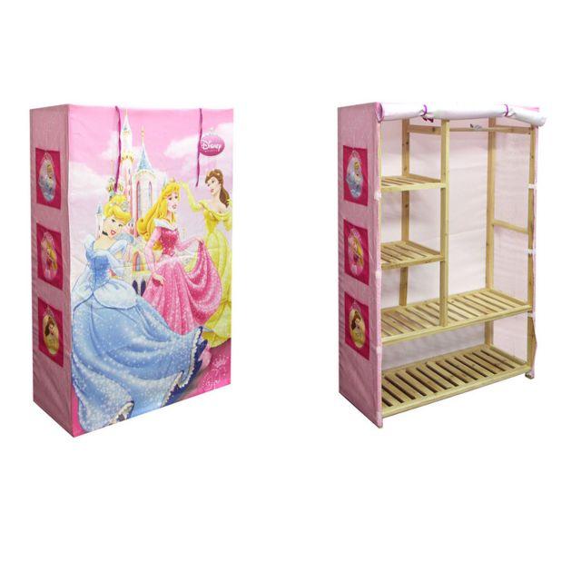 jemini penderie bois princesse disney pas cher achat vente armoire enfant rueducommerce. Black Bedroom Furniture Sets. Home Design Ideas
