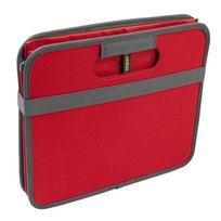 Meori - Boîte De Rangement Pliable 30 Litres 2 Compartiments - Rouge Hibiscus
