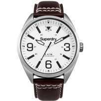 Superdry - Montre Homme Military Cuir Marron Syg199TS Sportswear