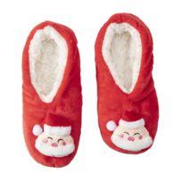 vente chaude en ligne 84e1b 6c2ec Chaussons de Noël rouges antidérapants, lavables en machine taille 35/38