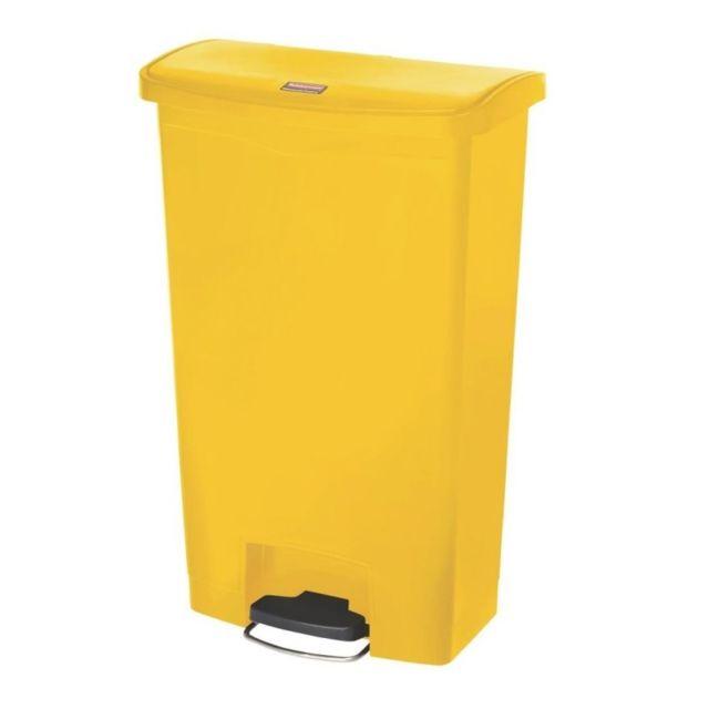 rubbermaid poubelle p dale frontale large jaune 68l slim jim step on pas cher achat. Black Bedroom Furniture Sets. Home Design Ideas