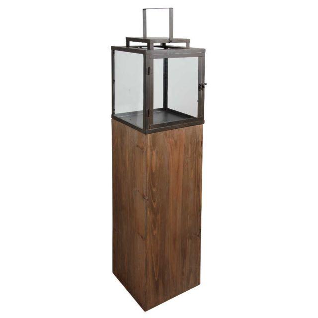 aubry gaspard lanterne de jardin en bois et mtal - Lanterne De Jardin