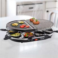 Marque Generique - Appareil à Raclette 1200 W avec Gril et Pierrade - Plancha cuisson