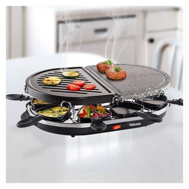 Totalcadeau Appareil à Raclette 1200 W avec Gril et Pierrade - Plancha cuisson