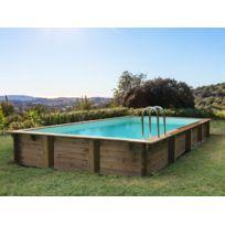 piscine bois 7m x 4m