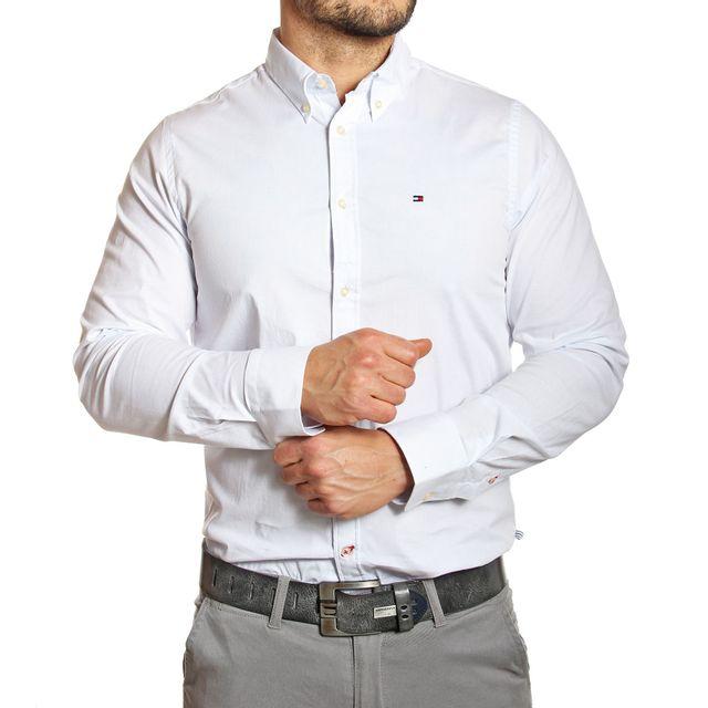 Tommy Hilfiger - Chemise homme ajustée blanche