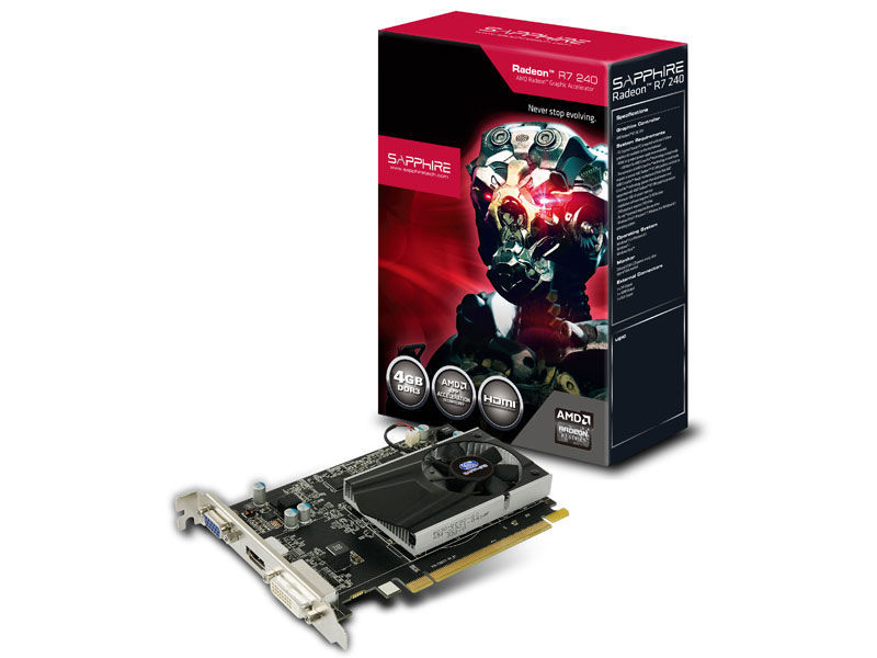 Carte graphique - R7 240 2G PCI-E LITE - Reconditionné