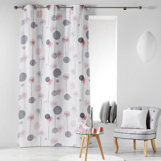 les douces nuits de ma rideau illets 140x240cm tina. Black Bedroom Furniture Sets. Home Design Ideas