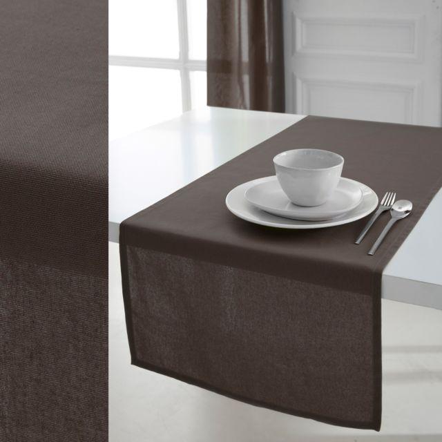 Today Chemin de table 100% coton bronze 50x150cm