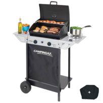Campingaz - Barbecue gaz grill Xpert100LS +Rocky Cuisson pierre de lave cuisson 44 X 34 + grille - Housse offerte