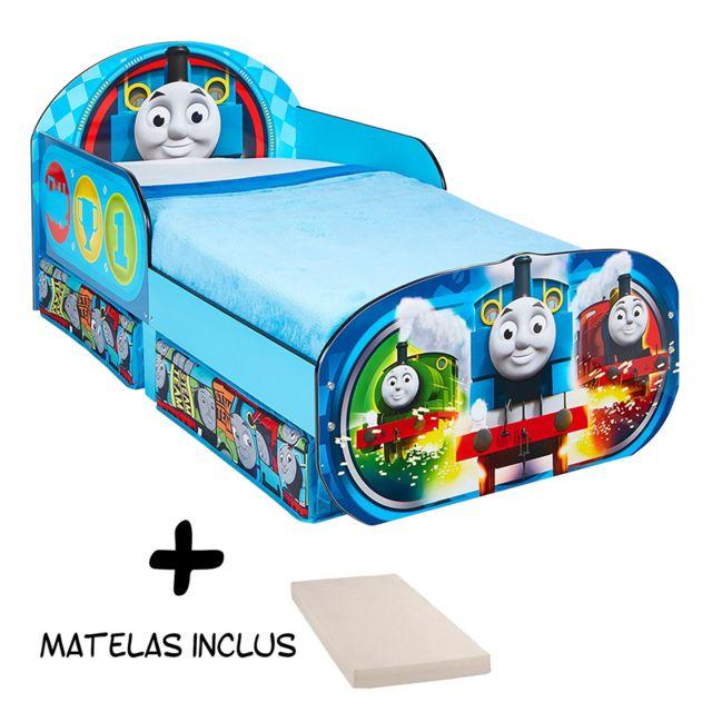 Bebe Gavroche Lit enfant Thomas et ses Amis Wagon avec tiroirs de rangement + Matelas
