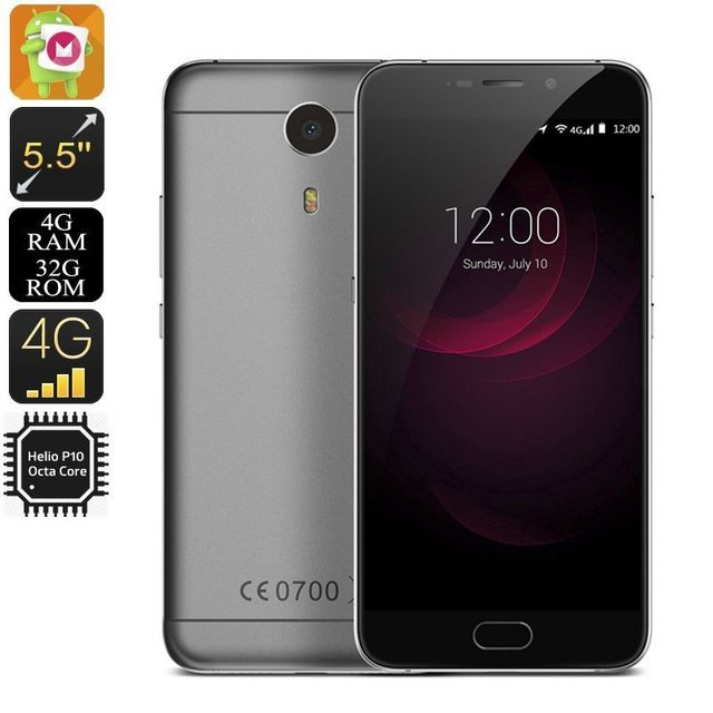 Yonis Smartphone 4G 5.5' 1080P Android 6.0 Octacore 2.0Ghz 4Gb Ram 32Go 13Mp