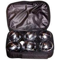 Angel Sports - Sacoche De 6 Boules De Petanques Chromees - Jeu D'ADRESSE - Plein Air