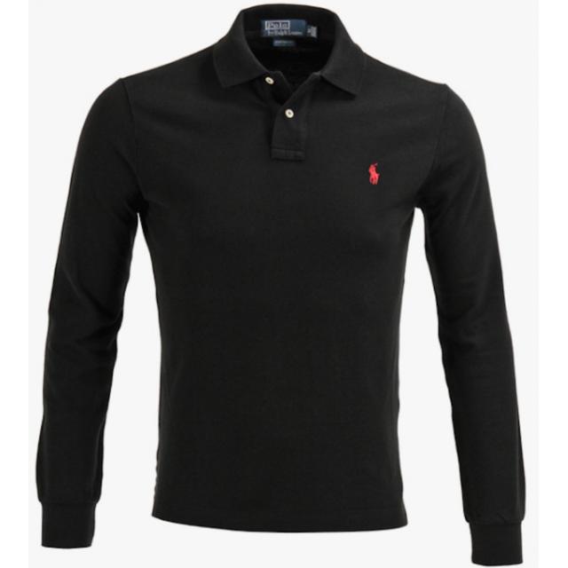 6caea23718f Ralph Lauren - Polo Noir Custom-fit Manches Longues Taille M - pas cher  Achat   Vente Polo homme - RueDuCommerce