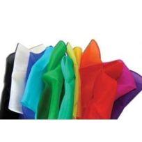 Magie - Foulards en soie 22,5 x 22,5 cm, par 12 - Couleurs Assorties
