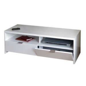 banco ba banco banc tv 110 cm blanc haute brillance. Black Bedroom Furniture Sets. Home Design Ideas