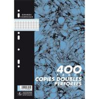 Hamelin - sachet de 100 copies doubles 400 pages perforées 21 x 29,7 cm seyes, 70 g, blanc