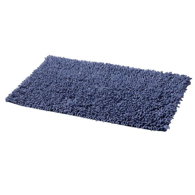 TEX HOME - Tapis de bain CHINE en coton Bleu