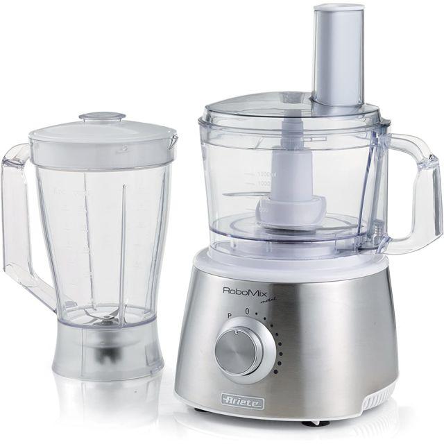 Ariete Robot de cuisine multifonctions 1500W gris blanc