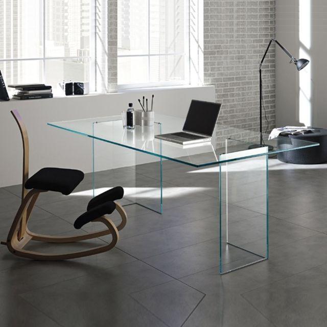 Meubler Design Bureau en verre design Montana