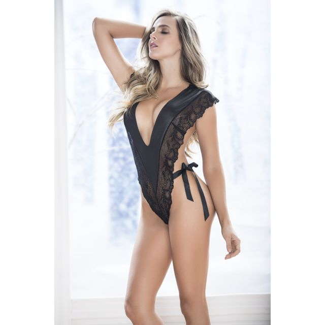 Mapale - Body Sexy Noir Mapalé M L - pas cher Achat   Vente Body ... 16358744f18