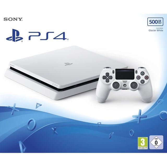 SONY - Playstation 4 Slim - 500 Go Blanche