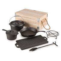 KLARSTEIN - Hotrod Masterplan Set batterie de cuisine pour barbecue 7 pièces Fonte