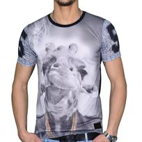 Celebrytees - Celebry Tees - T Shirt Manches Courtes - Homme - Girafe Chaine - Noir