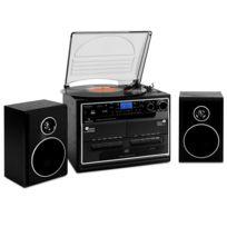 Auna - 388-BT Chaine stéréo platine vinyle K7 Bluetooth