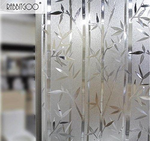 Film Intimité Pour Vitre Statique Décoratif Film Adhésif Fenêtre Vitrage Autocollant 90 Cm 200 Cm Motif Bambou
